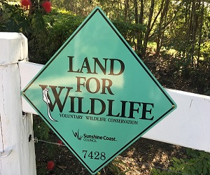 Land for Wildlife Sign The Country House at Hunchy
