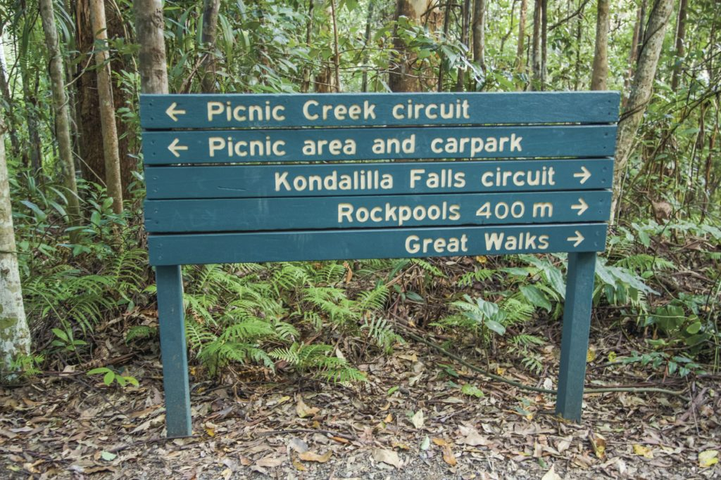 5 Star Couples Escape Packages - Your 5 Star Luxury Experience - Luxury Accommodation Montville Guest Activities Kondalilla Falls Sign