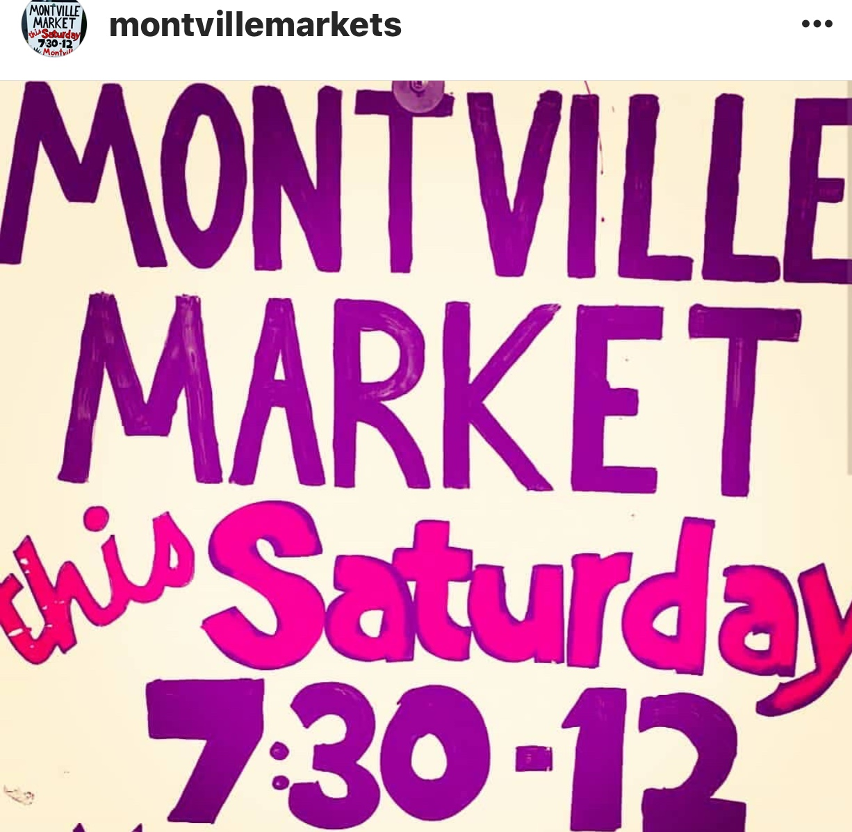 Our In-House Menus Montville Market Sign