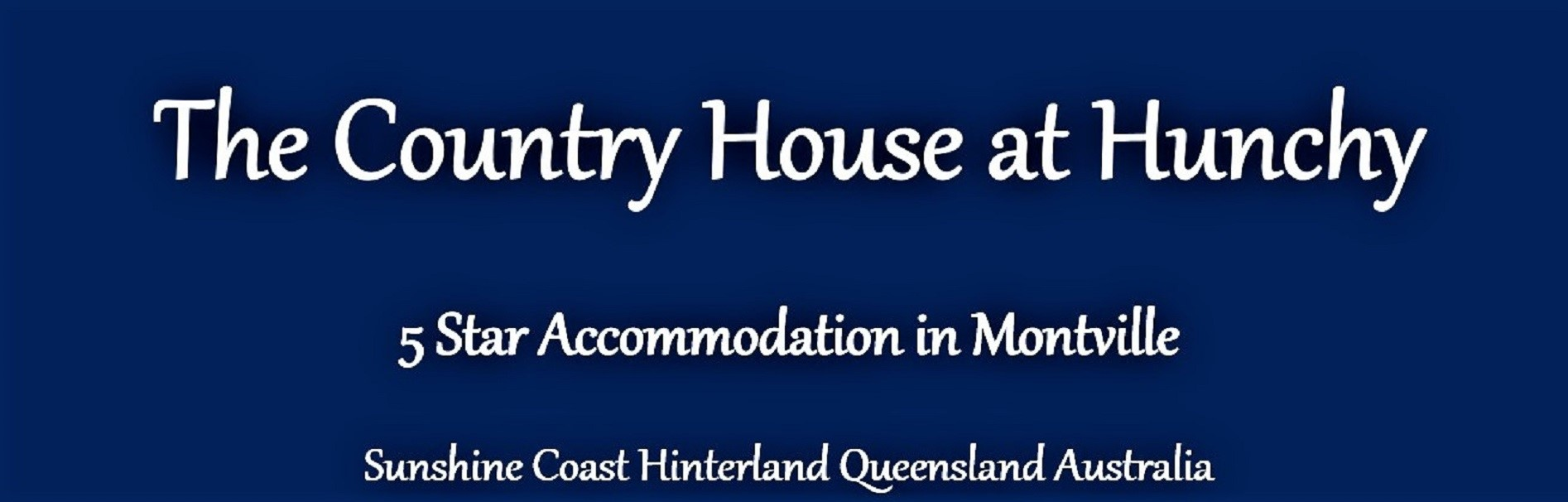 The Country House at Hunchy Montville, Sunshine Coast Hinterland